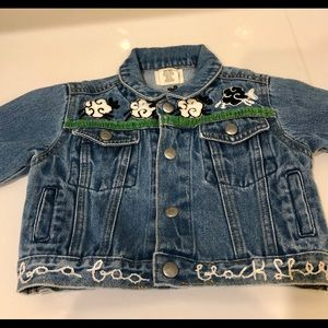 Other - Baby boys jean jacket w/ black sheep lyric details